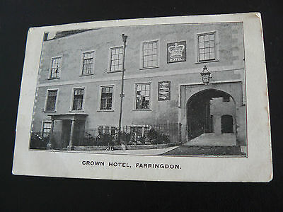 Crown Hotel Faringdon Postcard - Miss Jones at Bampton - 1908 - Oxfordshire