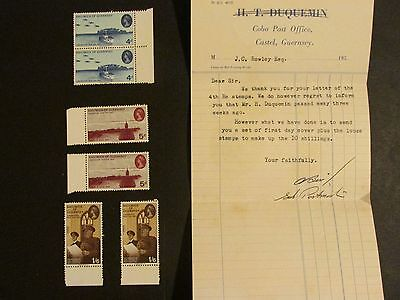 Guernsey liberation set and letter collection