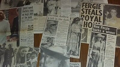 Duchess Of York Clippings FERGIE NEWSPAPER CLIPPINGS