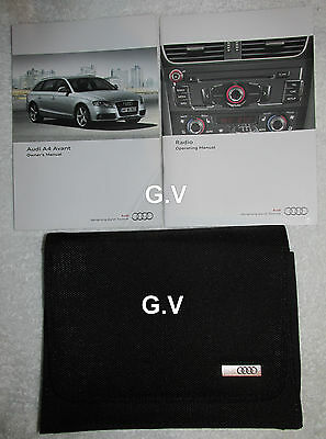 Audi A4 Avant Owners Handbook Manual With Wallet Free Post 2010 & Radio Manual