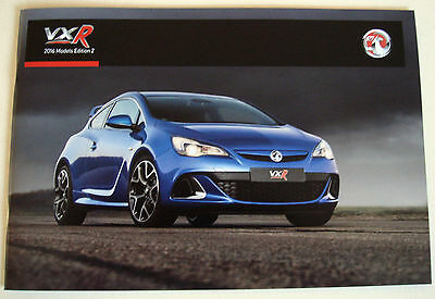 Vauxhall . VXR Range . 2016 Models Edition 2 . Sales Brochure
