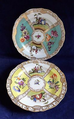 2 antique Meissen late 19th century cabinet plates - seconds ##RUF66BS