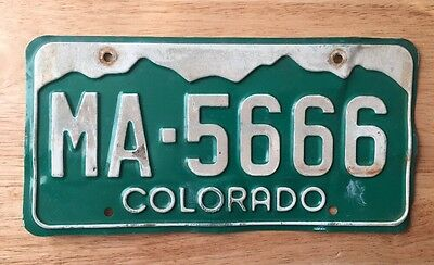 COLORADO- License Plate. Plate # MA-5666.  - Must See !