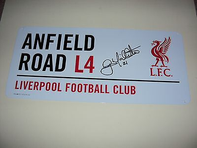 Liverpool Anfield Road Sign Hand Signed Gary Mcallister Authentic Kop Legend Coa