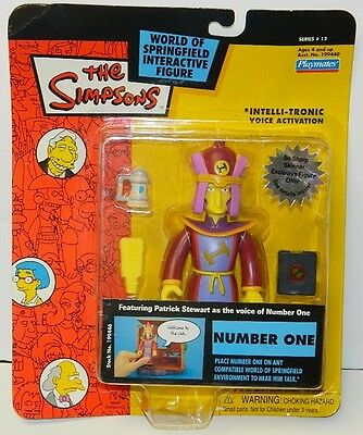 The Simpsons Number One Action Figure with Voice  Series 12, Playmates 2003 NEW