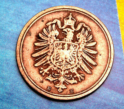 XX-RARE 1889-E German Empire Reich 1 Pfennig Germany COIN Antique ReichsPfennig