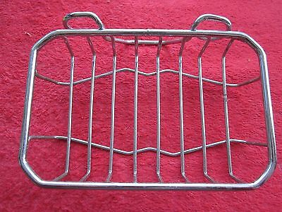 Vintage 1957 Autoyre Chrome Wire Soap Basket Dish, Nos