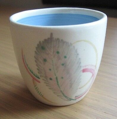 Susie Cooper -Eggcup- Three Feathers - Vintage - Sky Blue & White -