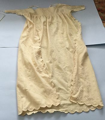 Antique vintage embroidered baby christening cape cloak robe gown doll outfit