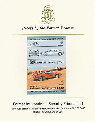 Bequia (2138) - 1984 Cars #2 BMW  imperf on Format Int PROOF  CARD