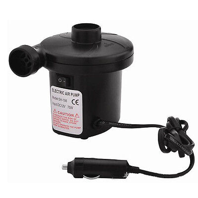 12V/4800PA AC Car Electric Air Pump For Camping Airbed Boat Toy Inflator NICE