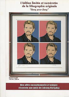 "HALLYDAY Johnny  Plan Media ""Lithograhie"" R@re"