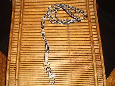 Handcrafted whistle lanyard