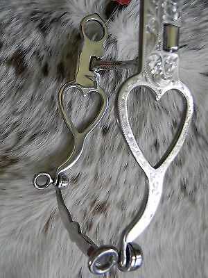 "Western Engraved Stainless 5 1/4"" Snaffle Mouth HEART Show Bit New Horse Tack"