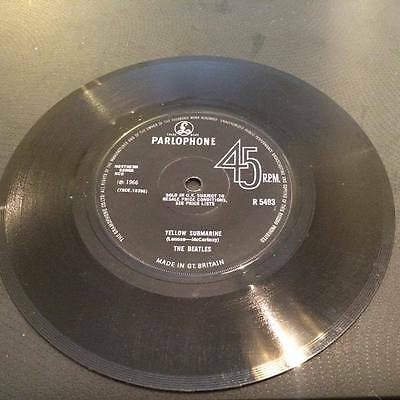 "THE BEATLES  Yellow Submarine / Eleanor Rigby - 7"" UK  SINGLE SOLID CENTER"