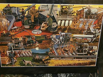 GLEANER -Allis-Chalmers Gleaner Combine/Tractor Puzzle-2007-Made in USA
