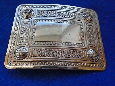 Celtic Style Pipers Belt Buckle, Highland/scottish Wear