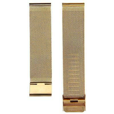 Fashion Men Women Milanese Stainless Steel 18mm Wrist Watch Band Strap Gold