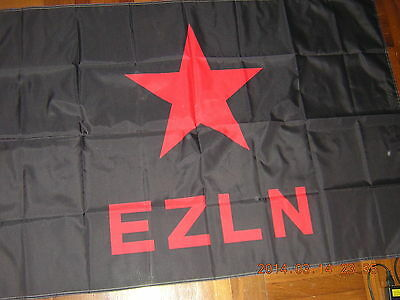 Flag Ensign of The Zapatista Army of National Liberation Zapatistas Mexico EZLN