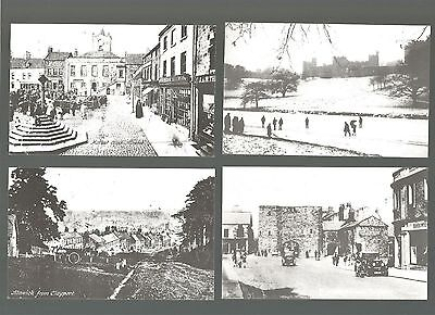 The market town of Alnwick - 7 reproduction cards from a set of 8