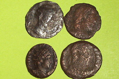 COLLECTION of Ancient ROMAN COINS 100 AD-400 AD silver denarius antique old lot