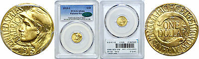 1915-S Panama-Pacific $1 Gold Commemorative PCGS MS-66 CAC