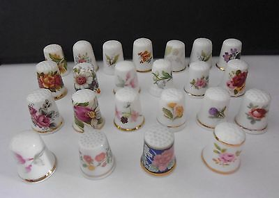 23  Flower  (  Bone  China  )  Thimbles