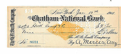 1901   The Chatham National Bank, New York   With Revenue