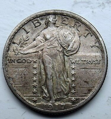 Good Grade 1917 United States Standing Liberty Type 2 Silver Quarter