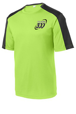 Columbia 300 Men's Pulse Performance Crew Bowling Shirt Dri-Fit Lime