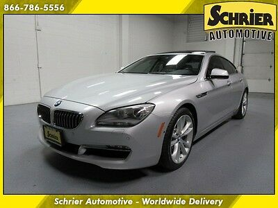 2014 BMW 6-Series Base Sedan 4-Door 14 BMW 640i xDrive Silver AWD Panoramic Roof Cold Weather Driver Assistance