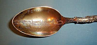 Vintage PORTLAND, MAINE Sterling Silver Souvenir TEASPOON