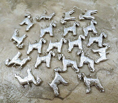 20 Pewter WHEATEN TERRIER Charms - 5495