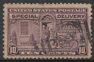 """USA 10c purple """"Special Delivery"""" used."""