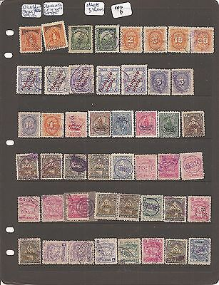 Nicaragua Telegraph Stamps Cancellations Lot of 47 (6ceb)