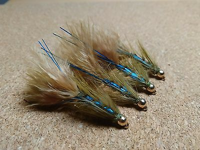 Blue Neon Damsel Trout Buzzers Trout Lures Fly Fishing Trout Flies
