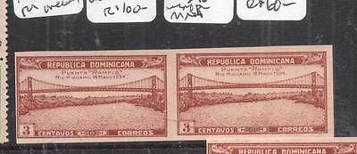 Dominican Republic SC 296 Bridge Imperf Pair MNH (8djl)