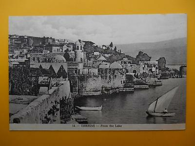 Town From the Lake TIBERIAS Palestine Israel *Vintage* 1929 Sea of Galilee Boats
