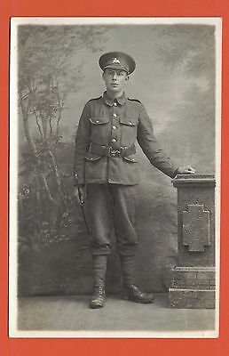 Real Photo Postcard, Soldier The Lincolnshire Regiment C.WW1