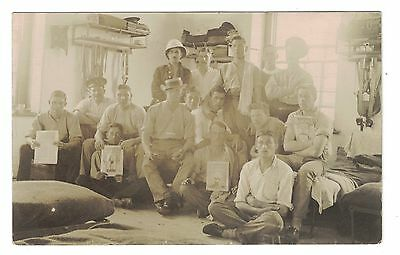 WW1 RP Postcard Soldiers, Boxing Mags 1914, Royal Artillery?