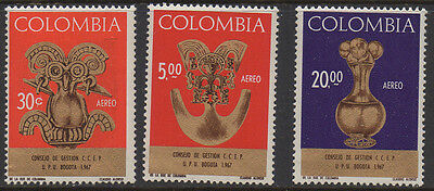 Colombia, 1967, SG1206/8 Air Stamps full set of 3 unmounted mint.