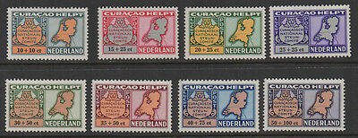 Curacao,1946, SG232/239 Air Netherland Relief Fund full set of 8 unmounted mint.
