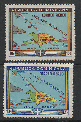 Dominica Republic, 1946 Air Stamps 2 values SG547/8 to13c unmounted mint.