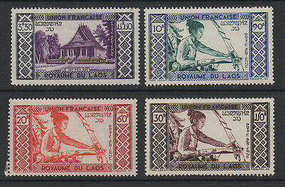 Laos, 1952 SG 18/21 to 4 values of the set to 30p, unmounted mint.