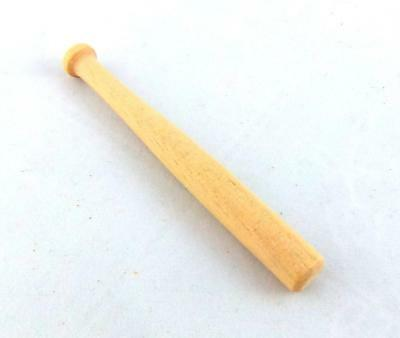 Dolls House Miniature Games Accessory Baseball Bat 1:12 Scale Wooden