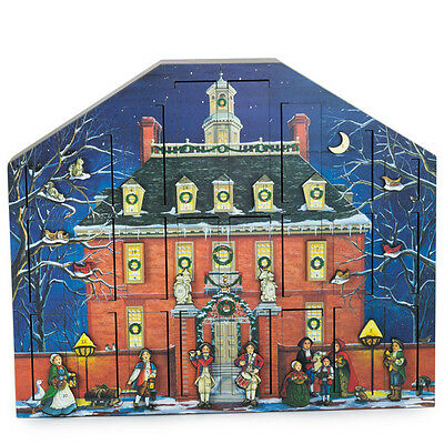 Colonial Williamsburg Governor's Palace Wood Byers Choice Advent Calendar NEW