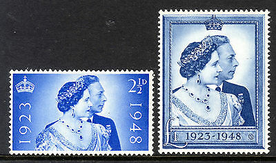 1948 ROYAL SILVER WEDDING Set SG 493-494 UNMOUNTED MINT