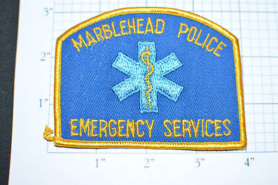 Old Original Marblehead Police patch Emergency Service