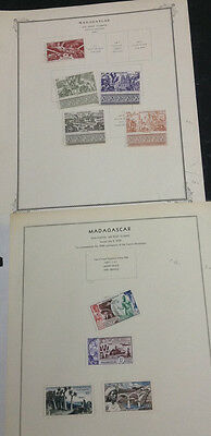 Momen: Madagascar Stamps # Collection £ R4061S #9322