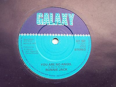 Ronnie Jack, You Are No Angel / A Place At The End Of The World. 1979 Single